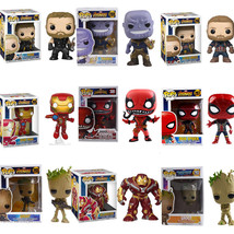Avengers Infinity War Funko POP Figure Model Toy Thanos Iron Man Deadpoo... - $22.45+