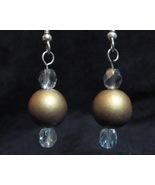 Sparkling Gold Ball Earrings - $10.00