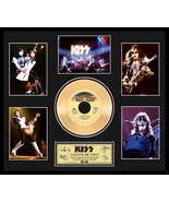 """KISS """"Calling Dr. Love"""" Framed 20""""x 24"""" 24k Gold 45 with 5 Images- LE 2,500 - $174.99"""