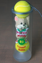 Perfect Match Hallmark Christmas Ornament Tennis Balls with Mouse in Box 1993 - $7.65