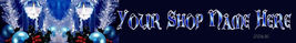 Web Banner Blue and Silver Christmas Custom Designed  93a - $7.00