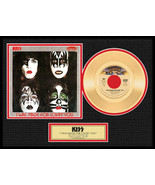 """KISS - """"I Was Made For Loving You"""" Framed 12"""" x 16"""" Gold 45 - Limited 2,500 - $154.95"""