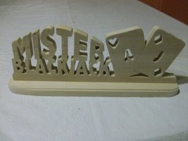 Wooden Mister Blackjack sign display - $23.00
