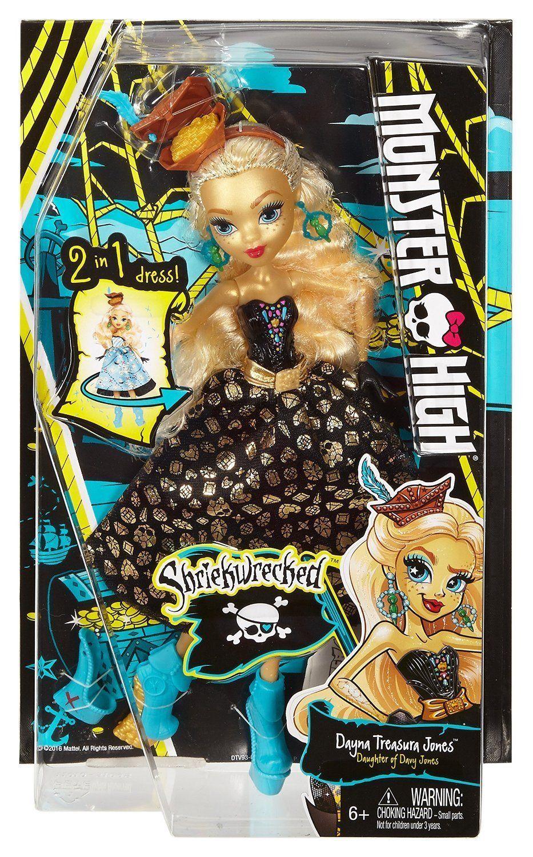 Image 3 of Monster High Shriekwrecked Dayna Treasura Jones Doll, Mattel