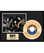 "KISS - ""Rock N Roll All Nite"" Framed 12"" x 16"" Gold 45 - Limited 2,500 - $154.95"