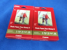"Canon PP-301 Photo Paper Plus Glossy II (4 x 6"", 100 Sheets) x 2 Packs - $17.95"