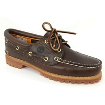 Timberland Women's Heritage Noreen 3-Eye Brown Leather Boat Shoes 51304 - £54.15 GBP