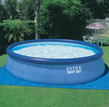 Intex 18ft X 48in Easy Set Pool with Filter Pump, Ladder, Ground Cloth & Cover image 6