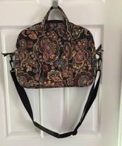VERA BRADLEY Weekender Bag FAN KENSINGTON Brown Paisley Travel College  ... - £25.60 GBP