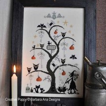 O Halloween Tree cross stitch chart Barbara Ana Designs - $10.80