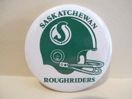 SASKATCHEWAN ROUGHRIDERS FOOTBALL Pinback Button Lapel Pin Souvenir Vintage - $5.95