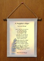A Firefighter's Prayer - Personalized Wall Hanging (779-1) - $18.99