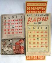vintage/antique old STANDARD RADIO GAME toy BINGO tube radio inspired w/... - $42.50