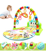Foot Play Piano Musical Lullaby Baby Activity Playmat Gym Toy Soft Baby ... - $36.89