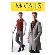 McCall Pattern Company M7003 Men's Costumes, Size MEN (Small (34-36) Medium (38- - $14.21
