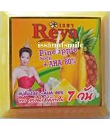ุ4 Bars Reya Pineapple Soap + AHA 80% Whitening Skin Anti-itch & Antisep... - $25.89