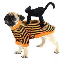 NACOCO Dog Halloween Costume Cat Party Funny Rider Christmas Clothes Bla... - $15.83