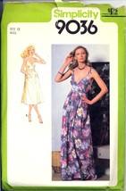 Uncut 1970s Size 12 Bust 34 Back Wrap Sundress Simplicity 9036 Pattern S... - $9.99