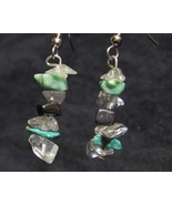 Green and Clear Stone Earrings - $10.00
