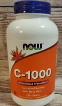 NOW Foods  Vitamin C-1000 Sustained Release with Rose Hips 250 Tablets Exp 8/23 - $23.23