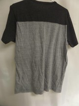 MENS AEROPOSTALE SHORT SLEEVE CHARCOAL AND GRAY STRIPE SIZE LARGE - $14.00