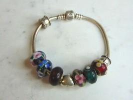 Womens Vintage Estate Sterling Silver Pandora Charm Bracelet 35.5g E712 - $124.99