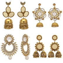 Indian Traditional Bollywood Bridal Oxidized Jhumki Fashion Jewelry Earr... - $11.87+
