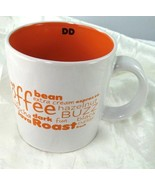 Dunkin Donuts Ivory & Orange Coffee Buzz Java Roast Coffee Tea Mug 2011 - $8.23
