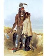 Hidatsa Indian Chief 30x44 Karl Bodmer Native American Indian Art - $118.04