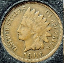 1906 Indian Head Cent VG PARTIAL LIBERTY #0254 - $2.39