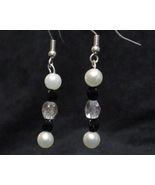 Faux Fancy Black and White Earrings - $10.00