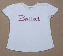 THE CHILDRENS PLACE TCP GIRLS S 5 6 TOP PINK BALLET BALLERINA  SHIRT RHI... - $12.86