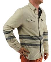 NEW LEVI'S MEN'S SHAN CLASSIC LONG SLEEVE STRIPED WOOL SHIRT BISCOTTI 3LDLW205 image 3