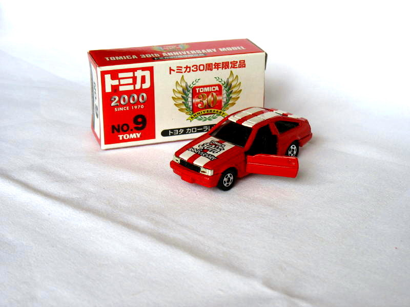 Primary image for 30th Anniversary Toyota Levin AE86 Red/White  #9 1/61 Die Cast Model Car