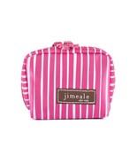 Cosmetic Bag Camera Case Coin Purse Fuchsia White Stripe Satin Jimeale N... - $15.83