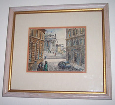 "H.M.Gasser Original Watercolor Painting In ""Rome"" Signed By the Artist- ... - $2,699.99"