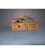 I Love Snow Wooden Sign - $0.00