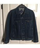 Saugatuck Dry Goods Vintage Denim Trucker Jacket Coat Snap Front Men's S... - $39.97