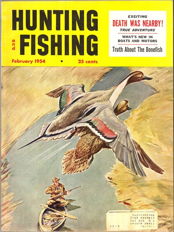 Primary image for Hunting Fishing magazine February 1954 vintage Hockings cover sporting collectib