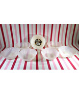 FaB Vintage 10pc Berman Plastic Leaf Design White Frost Salad or Dessert... - $12.00