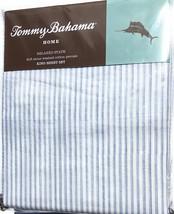 Tommy Bahama Paloma Beach Stripe Blue Stone Washed Cotton Percale Sheet ... - $85.00
