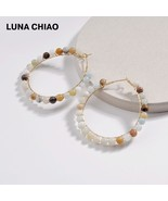 LUNA CHIAO 2018 Trendy Popular Natural Amazonite White Marble Labrite St... - $9.80