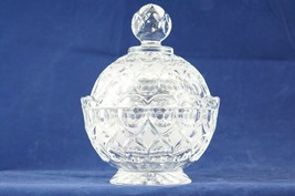 Vtg 2 Pc Covered Candy Dish Bowl Round Ball Sphere Antique Glass Decorat... - $28.54