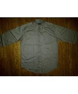 Zanzara Gray Grey Casual Dress Oxford Button Down Front Up Shirt 17 36/3... - $4.99