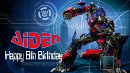 Transformers Optimus Prime -Personalized- Vinyl Birthday Banner Party Decoration - $34.95