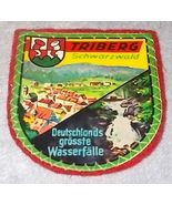 Triberg Schwartzwald Black Forest Souvenir Travel Patch Germany, Red Bac... - $5.95