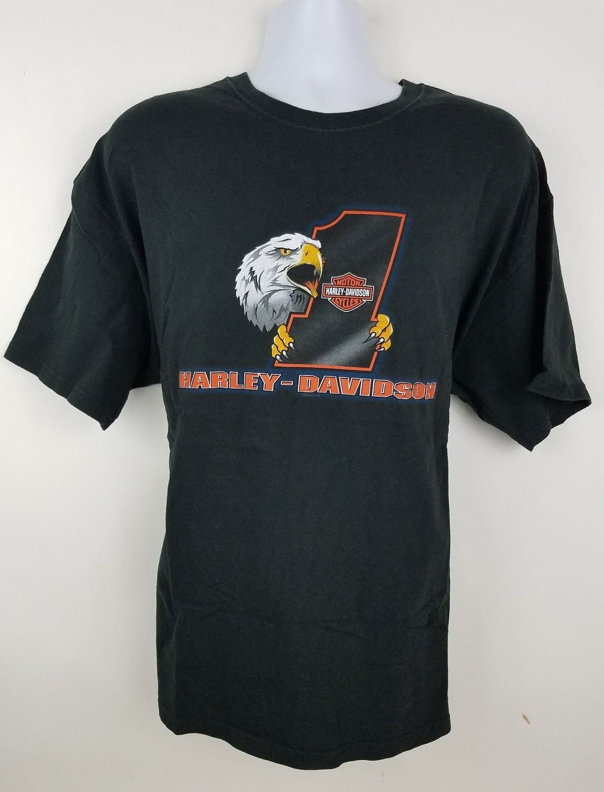 Harley Davidson Plainfield Indiana I-70 Black S/S Men's Motorcycle T Shirt XXL image 2