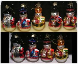 Christmas Ornaments Thomas Pacconi 18 Blown Glass Snowmen Around the Wor... - $79.99