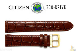 Citizen AR3002-21A Eco-Drive Original 20mm Brown Leather Watch Band 4-S0... - $56.65