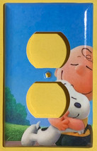 Peanuts Snoopy Charlie Brown Hug Light Switch Power wall Cover Plate Home decor image 2